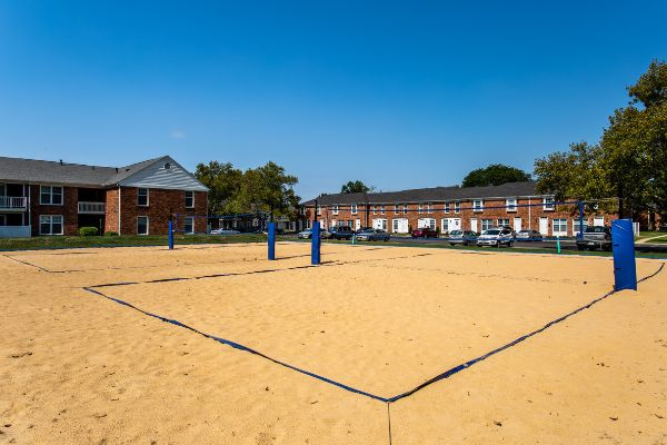 apartment with volleyball court amenity | the charles at bexley