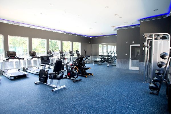 apartment complex with gym | the charles at bexley