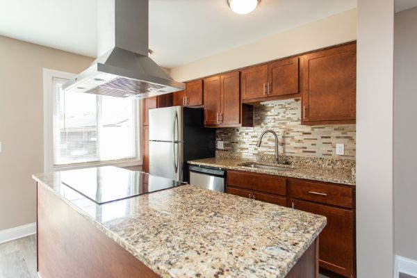 apartment with modern kitchen for rent in columbus ohio | the charles at bexley